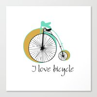 I love bicycle Canvas Print