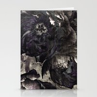 Goth Peony Stationery Cards