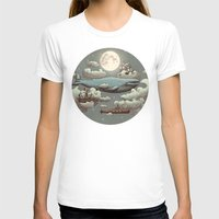 clouds T-shirts featuring Ocean Meets Sky by Terry Fan