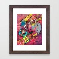 Mega Man Tribute Framed Art Print