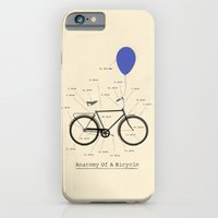 iPhone & iPod Case featuring Anatomy Of A Bicycle by Wyatt Design