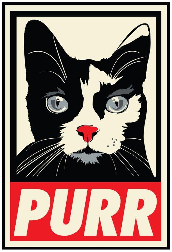 PURR Propaganda Art Print
