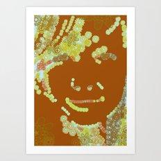 flower face Art Print