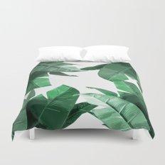 Tropical Palm Print Duvet Cover