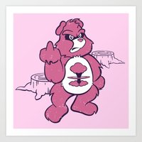 Don't Care Bear  Art Print