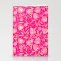 floral ornement on pink Stationery Cards