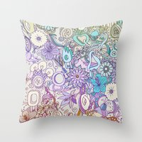 Camtric world creatures Throw Pillow