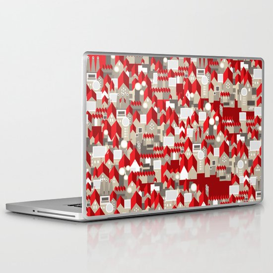 red roofs Laptop & iPad Skin
