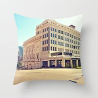 Historic Tacoma Theater Throw Pillow