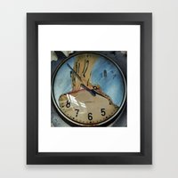 MELTED CLOCK Framed Art Print