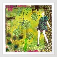 Girl In Green Art Print