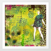 girl in green Art Print