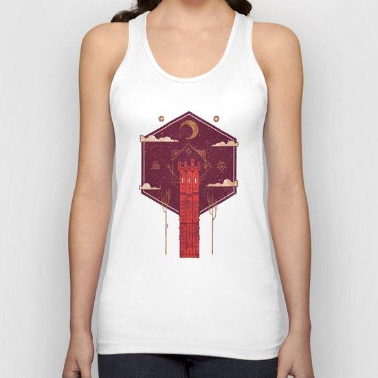 The Crimson Tower Unisex Tank Top