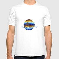 ABSTRACT - My blue heaven Mens Fitted Tee White SMALL