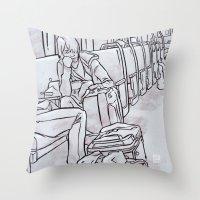 SUBWAY 2 Throw Pillow