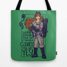 Ghostbuster Goddess Tote Bag