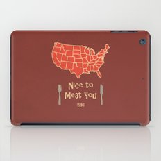 Nice to Meat You USA Map iPad Case