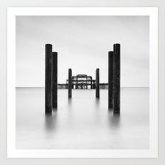 Pier Perspective Art Print