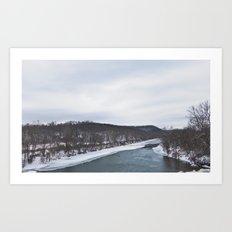 Frozen River Art Print