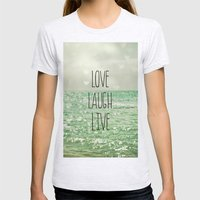 Love Laugh Live Womens Fitted Tee Ash Grey SMALL