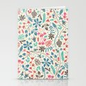 Retro Blooms Stationery Cards