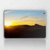 Winter sunset in Bamburgh Laptop & iPad Skin
