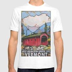 West Arlington Bridge, Arlington Vermont Benefit Print SMALL White Mens Fitted Tee