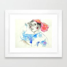 Caught In Headlights Framed Art Print