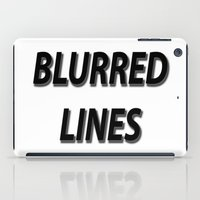 Blurred Lines iPad Case