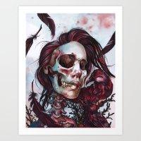 Queen Of Ravens Art Print