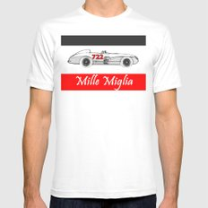 RennSport Speed Series: Mille Miglia Mens Fitted Tee SMALL White