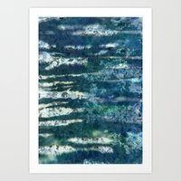 Patterned Crystals Art Print