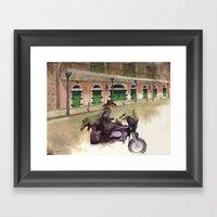 French Quarter Motorcycl… Framed Art Print