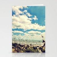 Beach Scene Stationery Cards