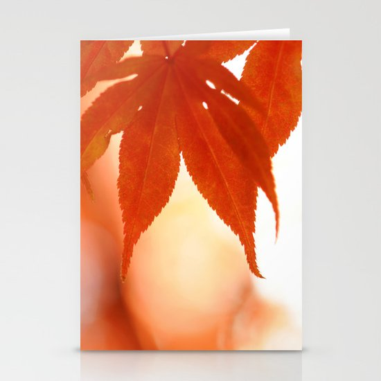 Maple Reds Stationery Card