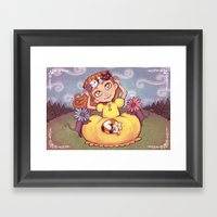 a crown of kitties Framed Art Print