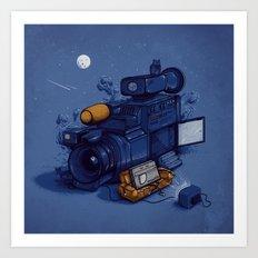 Movie Break Art Print