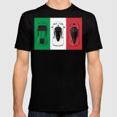 Tricolore SMALL Mens Fitted Tee Black