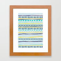 Tribal Thorn Framed Art Print