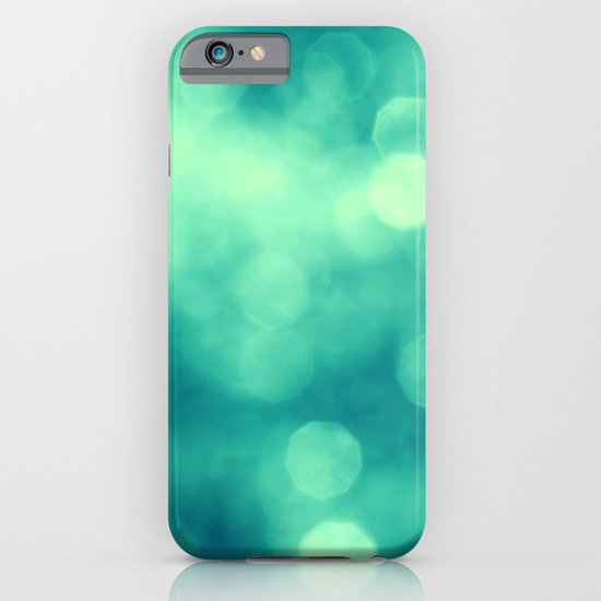BLUE GLITTER iPhone & iPod Case