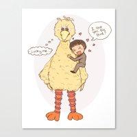 Romney loves Big Bird Canvas Print