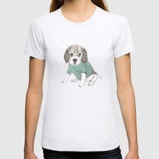 puppy Womens Fitted Tee Ash Grey SMALL