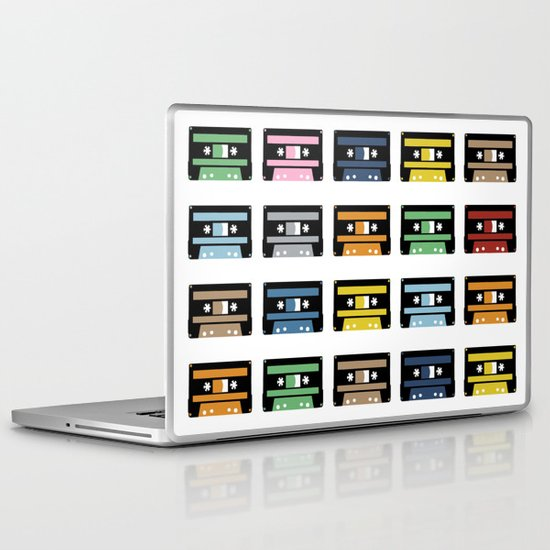 Rainbow Black Tapes Laptop & iPad Skin