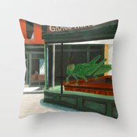 Grass Hopper Throw Pillow
