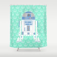 R2-D2 on Mint Rebellion Shower Curtain