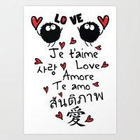 Love In Many Language Art Print