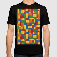 Lego bricks SMALL Mens Fitted Tee Black