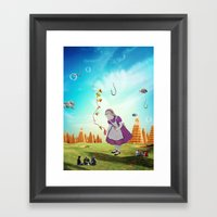 Alice Wondering Framed Art Print