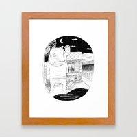 Night Bear  Framed Art Print