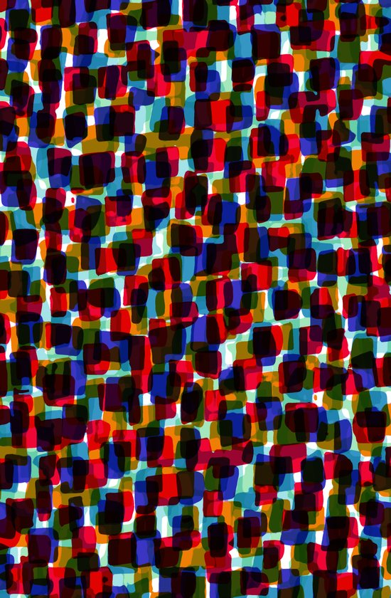 Multicoloured pattern - painted and digital. Art Print